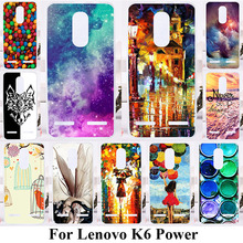 Soft TPU Phone Cases For Lenovo K6 K6 Power K33a42 5.0 inch Covers Hard Plastic Silicone Back Cover Umbrella Girls Ballon Bags