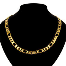 Africa Dubai popular Gold Color necklace jewelry chain men necklace gift wholesale real statement new style 2017(China)