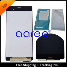 Free shipping 100%Tested For Sony Xperia Z3 LCD Display Touch Screen Digitizer Assembly + adhesive -5.2 inch