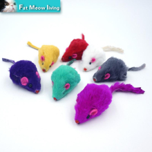 Pet Cat Toys 5pcs Creative False Mouse Cheap Mini Funny Playing Toys For Cats Kitten Multi color random Size 5*2Cm Free Shipping