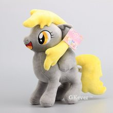 "Hot Sale Cartoon Plush Horses Derpy Hooves Peluche Dolls Stuffed Animals Soft Dolls Kids Gift 13"" 32 cm"