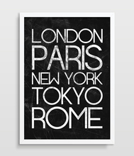 Subway Poster Print World Cities Poster Subway Sign Tram Scroll City Print London Paris Rome Tokyo New York poster picture art