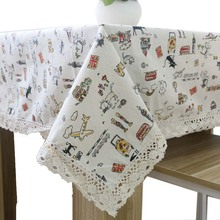 Pastoral Super Quality Linen Lace Tablecloth for The Table Cat Table Placemats Table Cloth for Square and Rectangular Table(China)