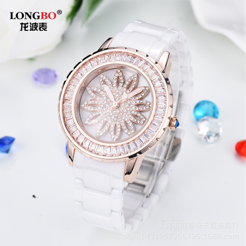 Hight Grade Female Genuine Ceramic Fashion Top Quaity Diamond Ladies Luxury Brand Watch Casual Waterproof  Clock Watches<br>