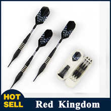 New 3pcs Safe Copper Tip and Marked Aluminum Shaft Darts with Black Dart Flight for Electronic Target