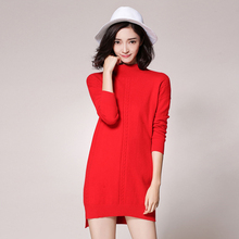 Women sweater 110CM BUST 100% Pure cashmere Skirts 2016 new Winter Knitwear sweaters Hot Sale Tops Pure Cashmere Knitted Tops