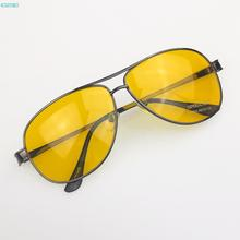 Best Quality Vintage men Driver HD High Definition Night Vision yurt Sunglasses Yellow lens google Sun glasses big promotions