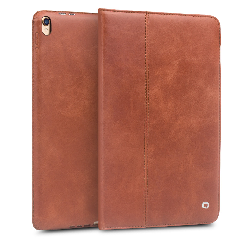 QIALINO Fashion Genuine Leather Bag Cover for iPad Pro 10.5 Luxury Ultrathin Flip Stents Dormancy Stand Case for 10.5-inches<br>