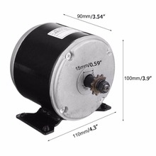 24V DC Permanent Magnet Electric Motor DIY Generator Motor With 11 Gears 300W 2700rmp For Wind Turbine PMA Scooter Mayitr(China)