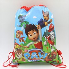 pawed Patrolling Birthday Party Gift Bag Non-Woven Fabric Drawstring Backpack
