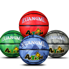 Kuangmi Sporting Goods Basketball PU Training Game Basketball Ball indoor outdoor Official Size 7 Military Sporit Series netball(China)
