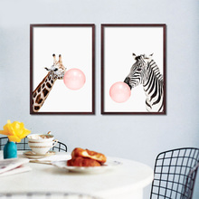Wall Pictures Bubble Posters And Prints Wall Pictures For Living room Animal Wall Art Canvas Painting Nordic Poster Unframe(China)