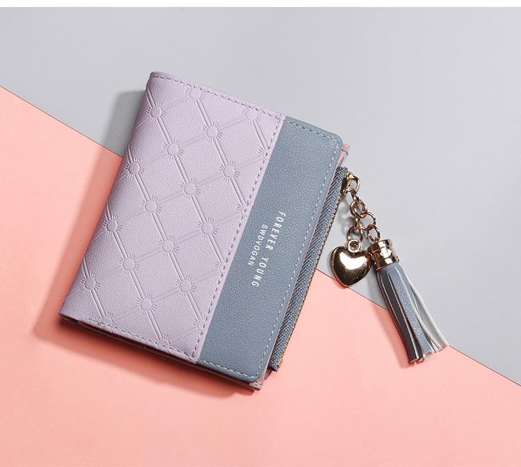 PU Leather,wallet female,wallet female women zipper,Fashion,Casual,Vintage,Black,Red,Brown,Blue,Pink wallet female leather (12)