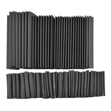 Brand New 150pc Black Polyolefin Heat Shrink Tube Assortment Wrap Electrical Insulation Cable Tubing Best Promotion!!