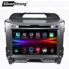 Free shipping 2DIN Android Quad core 8 inch Car DVD  for KIA Sportage Radio DVDnavigation 2din DVD Sportager GPS Radio DAB+ wifi