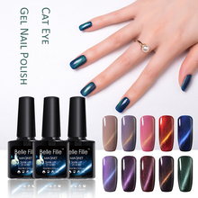 BELLE FILLE Cat Eye UV Gel Nail Polish Professional Nail Gel Lacquer Varnish agate red sapphire blue brown Color Nail Gel(China)