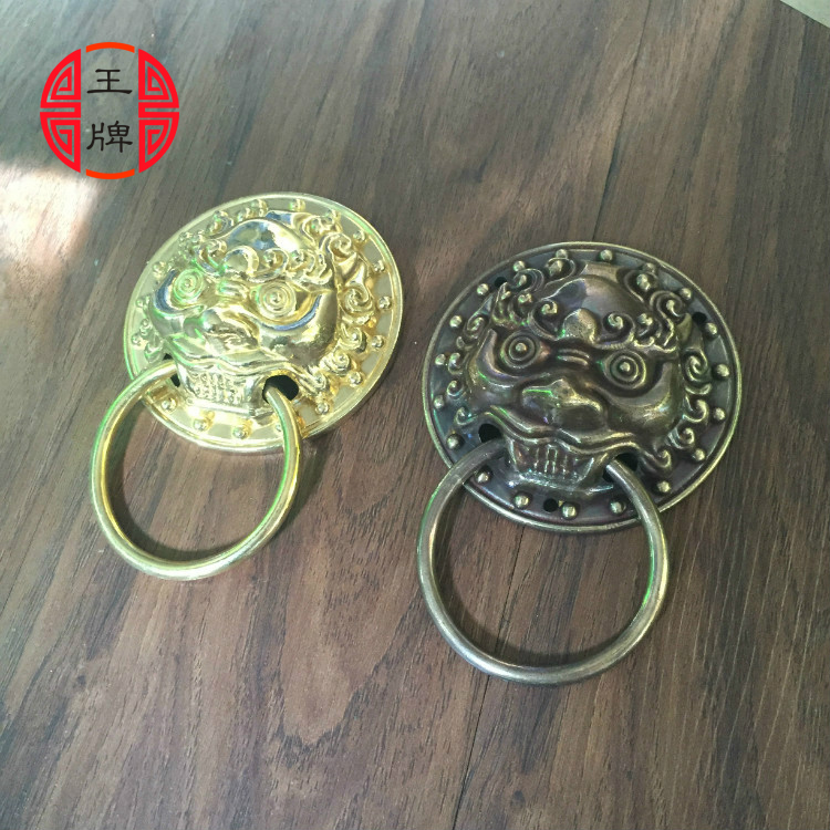 Chinese antique copper ring drawer furniture door ring small handle door handle retro wooden door decoration ring<br>