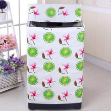2 Type Washing Machine PVC Dust Proof Cover Waterproof Case Washing Machine Protective Dust Jacket Home Storage Organizer 1PC
