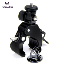 SnowHu Bike Bicycle Motorcycle Handlebar Handle Clamp Bar Camera Mount Tripod Adapter Gopro Hero 7 6 5 4 xiaomi yi GP73