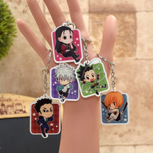 Hunter x Hunter acrylic Keychain  Killua Gon Action Figure Pendant Car Key Chain Key Accessories 6 Styles QZLR001 LTX1