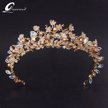 2017 Fashion Magnificent Diadem Clear Crystal Bridal Tiaras Flower Wedding Crown for Bride Wedding Pageant Hair Accessories