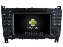 Android 5.1.1 CAR Audio DVD player gps  FOR BENZ C Class W203(2004-2007) Multimedia navigation head device unit  receiver