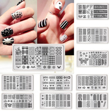 Sales promotion 1pc Nail Stencils Nails Art Stamp Templates Plates for Gel Nail Polish Manicure Image Plate(China)