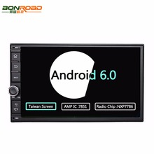 "Bonroad 7""2Din 1024*600 Taiwan Screen Android 6.0 Ram 2G+Rom 32GB Car Stereo Universal For Nissan GPS Radio Audio Player(No DVD)"