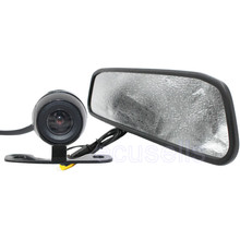 New HD Video Auto Parking LCD Monitor Car Butterfly Camera + 4.3 inch Car Rear View Mirror Monitor for Backing