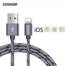 Essager Nylon Braided USB Charger Cable For iPhone 7 6 6s Plus 5 5s se iPad Air Mini Fast Data Sync Charging For Lightning Cable