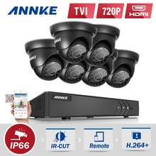 ANNKE 8CH 1080N TVI P2P DVR 6x 1500TVL IR In/Outdoor Security Camera System CCTV Surveillance Kit