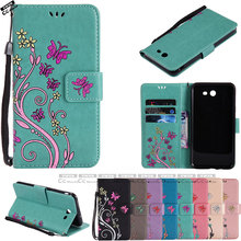 Flip Case for Samsung Galaxy J7 Verizon J 7 Case Phone Leather Cover SM-J727P SM-J727V SM-J727R4 SM J727P J727V J727R4 soft skin(China)