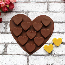 1 PC 10 Holes Silicone Heart Shape Soap Candy Chocolate Molds Cake Ice Kitchen Cooking Tools Supplies Accessories