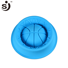 SJ Silicone Mold Blue Bowl With Basketball Bottom Shaped Cake Mold High Capacity Baking Bakery Tools & Kitchen Cooking Kitchen(China)