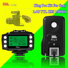 For Sony A7 A7R A7RII A6300 A65 A77II RX10III Camera Pixel King Pro 2.4G Wireless Flash Trigger kit TTL HSS Receiver Transmitter(China)