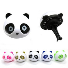 Car-styling Panda Car Perfumes 100 original 5ml Solid Air Freshener OEM Air Conditioning Vent Flavoring In Car parfums 2pcs/set(China)