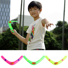 1pc Triangle V Shaped Boomerang Frisbee Kids Plastic Toy Throw Catch Outdoor Game(China)