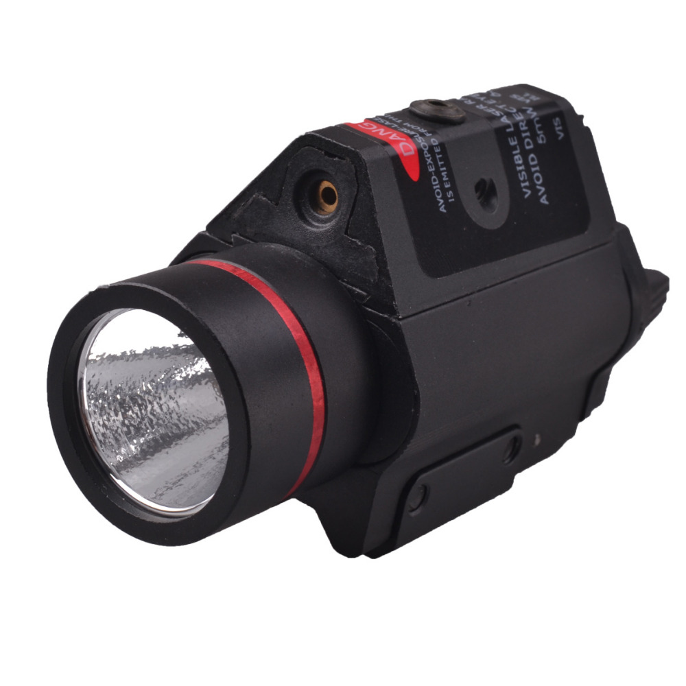 2016 RichFire SF-P15 5mW Red Laser Gun Sight w/ Mount+LED Tactical Pistol Flashlight-Black(2 x CR123A)<br>