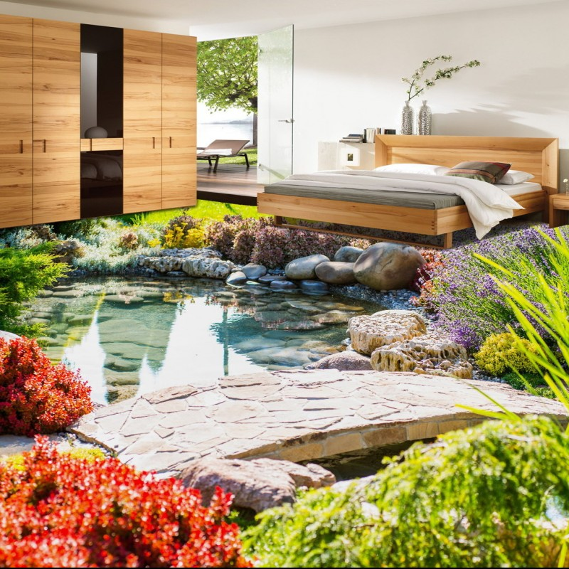Free Shipping Fashion creative flow grass flowers Bathroom Bedroom Living Room 3D Floor waterproof non-slip lobby flooring mural<br><br>Aliexpress