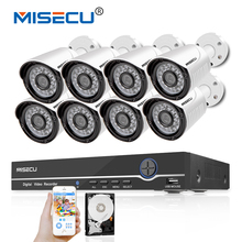 MISECU 48V 8CH 1080P POE NVR 1.0mp 48V PoE Camera Hi3518E HD P2P HDMI Metal Camera System Surveillance 24pc IR PC&Phone XMeye(China)