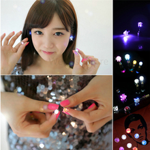 1 Pair Light Up LED earrings Studs Flashing Blinking Stainless Steel Earrings Studs Dance Party Accessories Supplies for woman(China)
