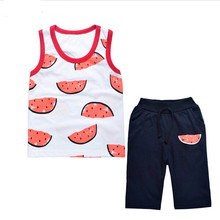 Baby boys cloth set vest tshirts +pants 2pcs Infant toddler boy clothes summer sets conjunto roupas de bebe infantil clothing