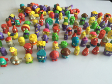 50PCS  Colorful cartoon anime action figure toy2-3cm, PVC soft garbage trash pack model toy for children, randomly sending