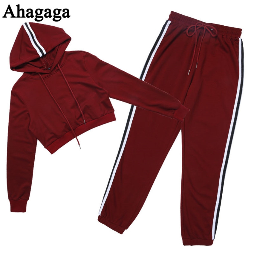 Women's Tracksuits Set, Casual Hooded Sweatsuit Set 42