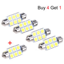 Universal 36mm 5050 6SMD White Micro Vehicle Auto Truck SUV Car Interior Festoon Dome LED Light Bulbs Lamp Buy 4 Get 1