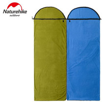 Naturehike Outdoor fleece Sleeping bag Envelope Travel Hiking portable Mountaineering Camping Ultralight Sleeping Bags