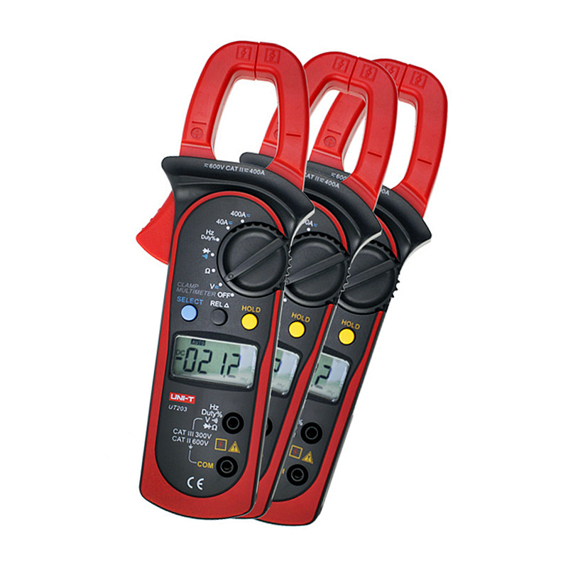 2016 Brand New High Quality UNI-T UT-203 UT203 Digital Clamp Meter Multimeter Ohm DMM DC AC Current Voltmeter 400A Free Shipping<br>