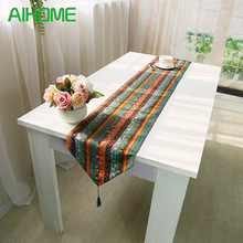 Pastoral Ethnic Vintage Retro Bohemia Tower Cotton Linen Teatable Flag Table Cover Mantel Home Decorations Table Cloth(China)