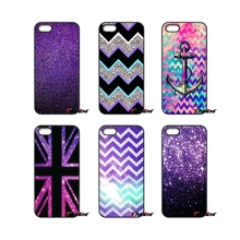For Huawei Ascend P6 P7 P8 P9 P10 Lite Plus 2017 Honor 5C 6 4X 5X Mate 8 7 9 Fashion Glitter Sparkly Purple Pattern Printed Case