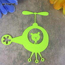 Litter Bear Fly a Helicopter Card Maker Metal Die Cutting Dies For DIY Scrapbooking Photo Album Decorative Die Cutting Template